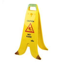 Banana inklapbaar waarschuwingsbord natte vloer