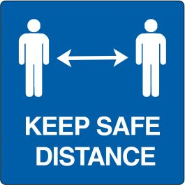 "Vloerpictogram ""keep safe distance"""