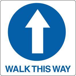 "Vloerpictogram ""Walk This Way"""