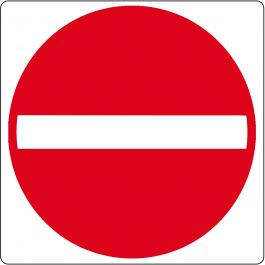 "Vloerpictogram ""verboden toegang"""