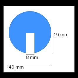 Stootrand foam, model 2 – 1 meter