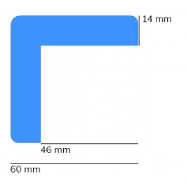 Stootrand foam, model 8 – 1 meter