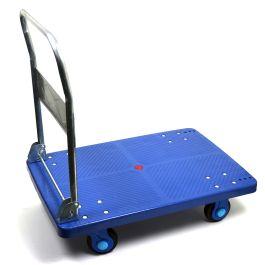 Kunststof plateauwagen met inklapbare duwbeugel, lvm. 300 kg