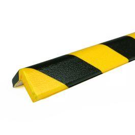 PRS stootrand hoekprofiel model 7 – geel-zwart – 1 meter