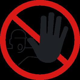 "Anti-slip-vloerpictogram ""verboden voor onbevoegden"""