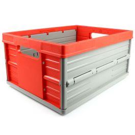 Vouwkrat 32 liter rood-grijs