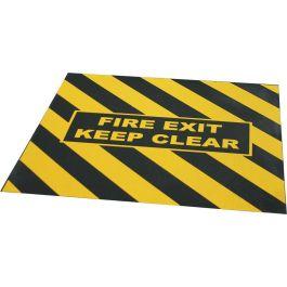 """FIRE EXIT KEEP CLEAR"" waarschuwingstape voor nooduitgang"