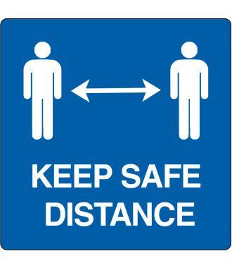 """Vloerpictogram """"keep safe distance"""""""