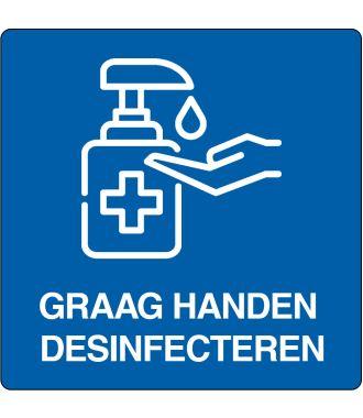 """Graag handen desinfecteren""-sticker (Maxi-Loka Premium)"