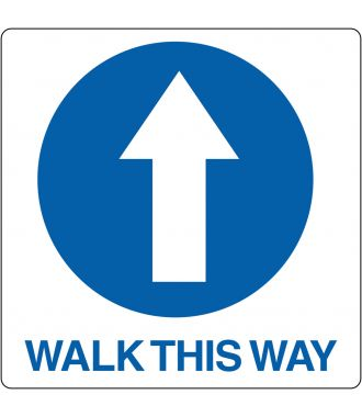 "Vloerpictogram ""Walk This Way"""
