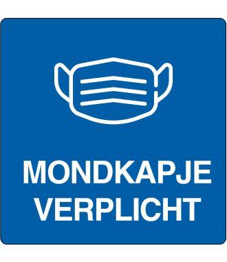 """Mondkapje verplicht""-sticker (Maxi-Loka Premium)"