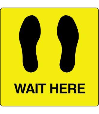 """Vloerpictogram """"Wait Here"""""""
