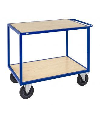 Kongamek tafelwagen met houten plateaus, laadvermogen 500 kg