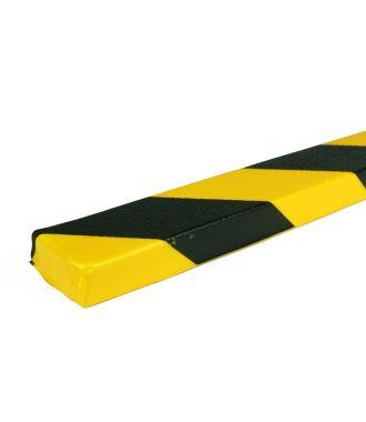 PRS stootrand vlakprofiel model 43 – geel-zwart – 1 meter