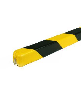 PRS stootrand randprofiel model 9 – geel-zwart – 1 meter