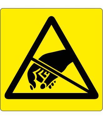 Vloerpictogram waarschuwing voor ESD-gevoelige producten