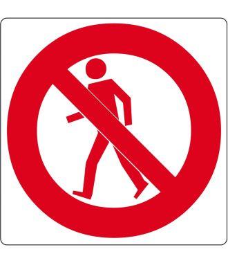"""Vloerpictogram """"verboden voor voetgangers"""""""