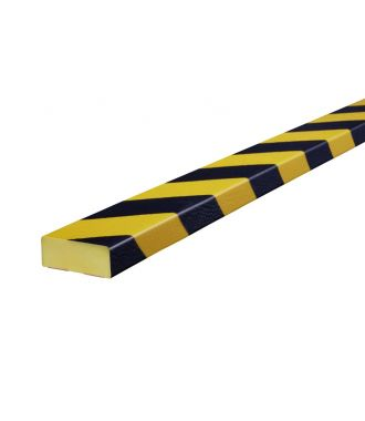 Knuffi stootrand vlakprofiel type D – geel-zwart – 5 meter