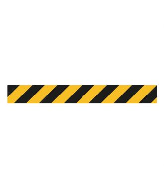Premark thermoplastische waarschuwingsmarkering, lijn van 1 m, geel-zwart
