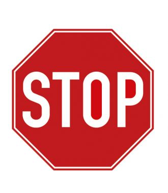 "Premark thermoplastische markering, ""stop""-bord"