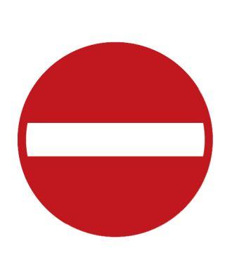 """Premark thermoplastische markering, verbodsbord """"eenrichtingsweg"""""""