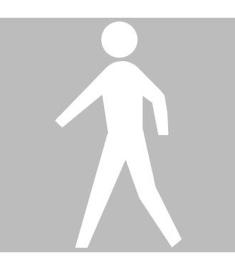 Premark thermoplastische markering, voetganger