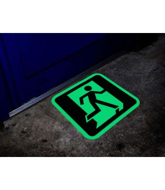 Nooduitgang pictogram glow-in-the-dark