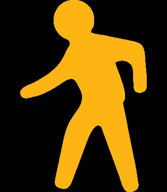 Voetpad-aanduiding voor vloermarkering, anti-slip