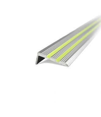 Aluminium trapneusprofiel glow-in-the-dark