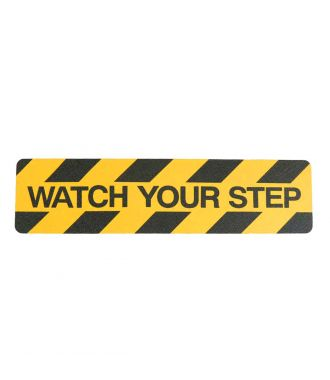 """Watch your step"" anti slip tape"