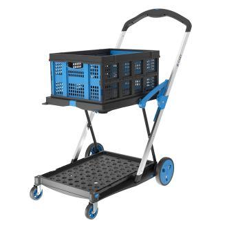 X-Cart inklapbare kratten-trolley + 1 vouwkrat