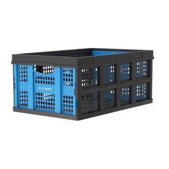 Vouwkrat 49 liter blauw-zwart