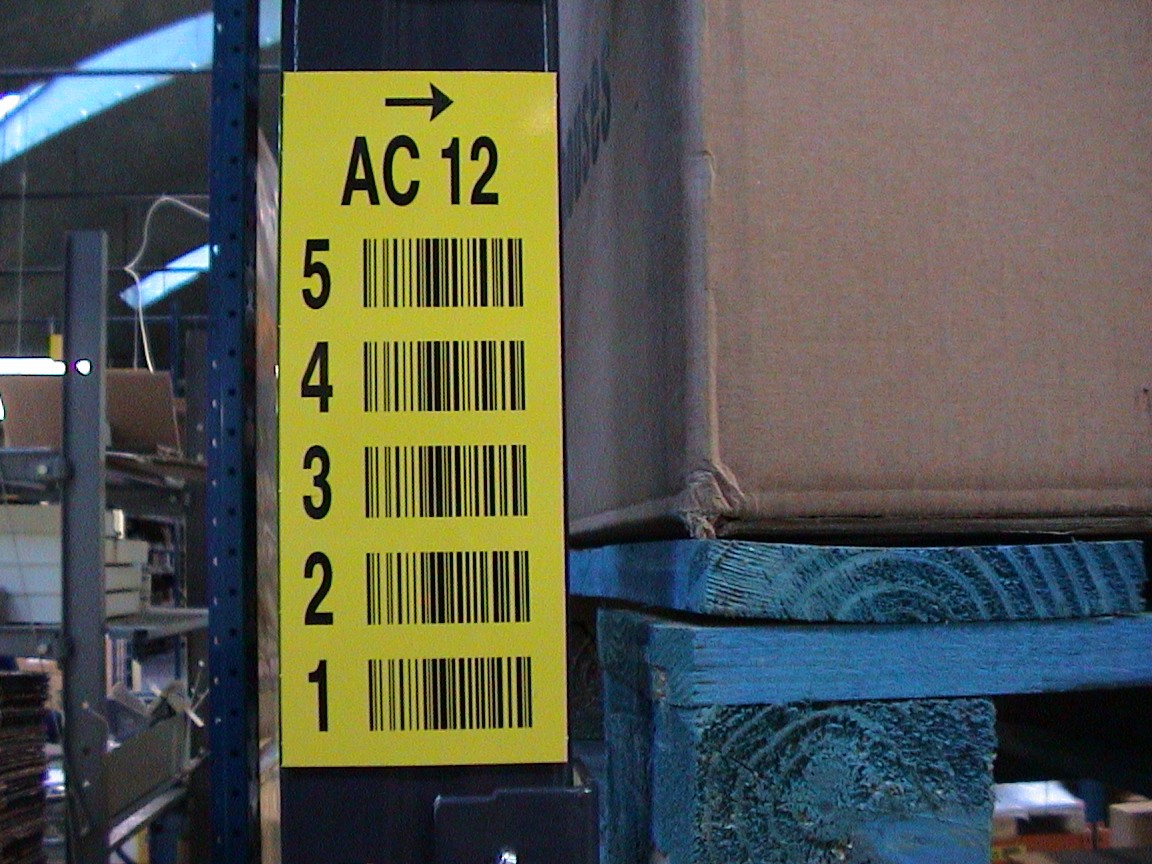 Verticaal multi barcode label