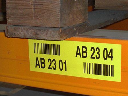 stellingetiket met barcode